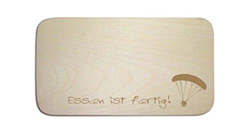 Frhstcksbrettchen--GLEITSCHIRM-03--inkl-pers-Wunschgravur-Brett-Frhstcksbrett-Frhstck-Schild-Paragliding-Fallschirm