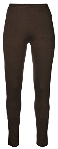 Girls Plain Legging Full Length (Ages 2 3 4 5 6 7 8 9 10 11 12 13 + Adult Sizes) Dance Stretch Teen (Chocolate Brown)