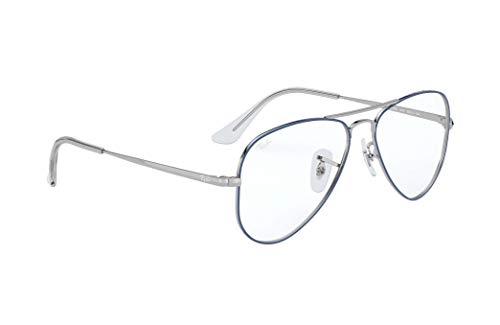 Ray-Ban Unisex-Erwachsene 0RY1089 Brillengestelle, Grün (Silver On Top Light Blue), 51.0