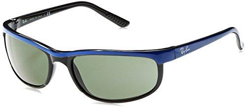 Ray Black-herren Ban Sonnenbrille (RAYBAN Herren Sonnenbrille Predator 2, Schwarz (Top Blue On Black/Green), 62)