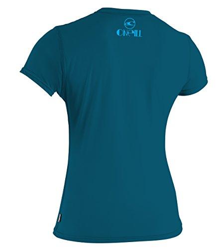 O 'Neill Neoprenanzug Damen UV Sun Schutz Skins Short Sleeve Tee Rashguard Blaugrün