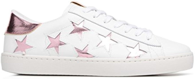 victoria Unisex Erwachsene Deportivo Laser Estrellas Sneaker  Weiß/Rosa