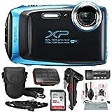 Fujifilm FinePix XP130 Waterproof & Shockproof Wi-Fi Digital Camera (Sky Blue) with 32GB Card