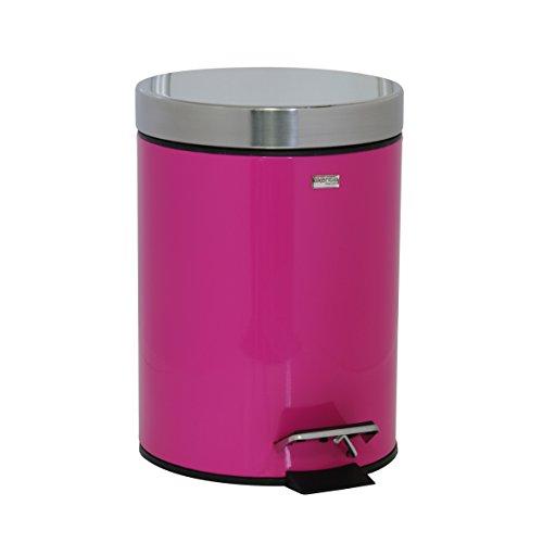 Kosmetikeimerca. 3 Liter robuster Mülleimer als Abfalleimer - Treteimer fürs Badezimmer - aus Edelstahl rostfrei + Kunststoffeinsatz -...