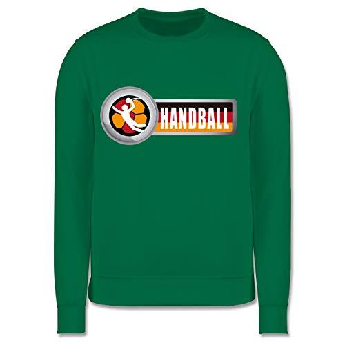 Shirtracer Handball WM 2019 Kinder - Handball Deutschland 2-5-6 Jahre (116) - Grün - JH030K - Kinder Pullover