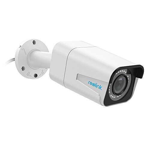 Reolink 5MP PoE Überwachungskamera Aussen IP Kamera mit Audio, SD Kartensteckplatz, 4X Optischer Zoom, Fernzugriff und IP66 Wasserfest für Aussen, Innen, Haus Sicherheit RLC-511-5MP