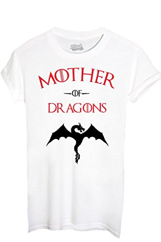 T-shirt mother of dragons game of thrones-film by mush dress your style - donna-xl-bianca