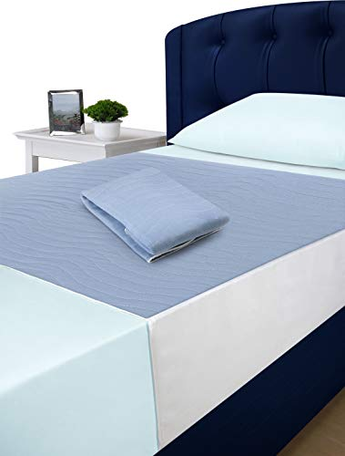 Utopia Bedding Bed Pad/Protector with Tucks (85 x 90 cm) - Pack of 2 - Highly Absorbent, Washable and Reusable