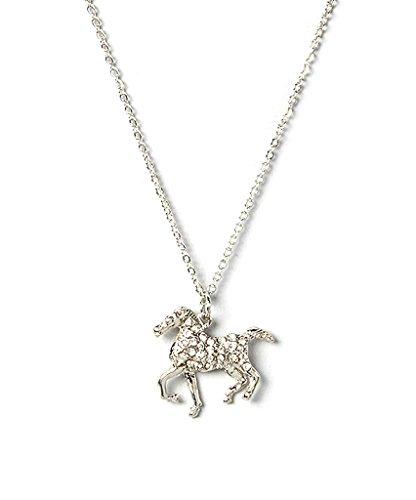 lux-accessoires-pour-enfants-filles-argent-cheval-collier-avec-pendentif