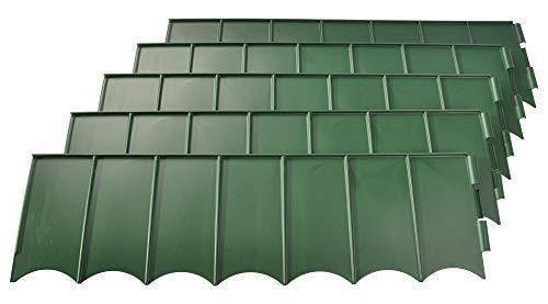 Sunware Rasenkante grün Beeteinfassung Mähkante Beetumrandung Raseneinfassung 2,7 m