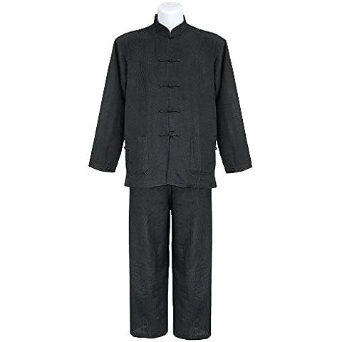 Tai chi uniforme artes marciale, ropa traje de Kung fu y Qi gong de seda para hombre