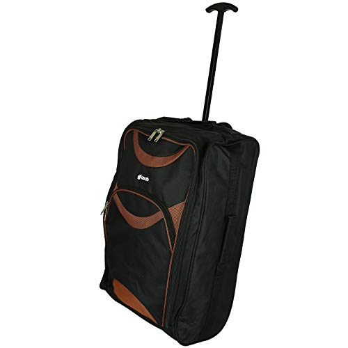 Leicht Rädern Handgepäck Trolley Koffer–Kleine Flight Boardtasche Orange orange Carry On