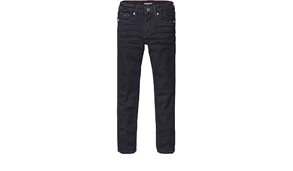 7248c7197 Tommy Hilfiger Boys Jeans Scanton Slim narbst, Fb. Dark Blue Denim:  Amazon.de: Bekleidung