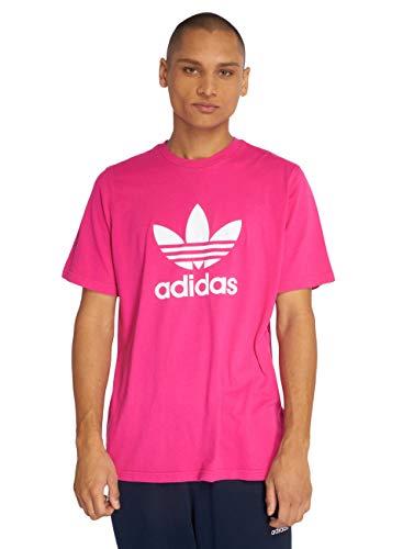 Adidas trefoil t-shirt shock pink