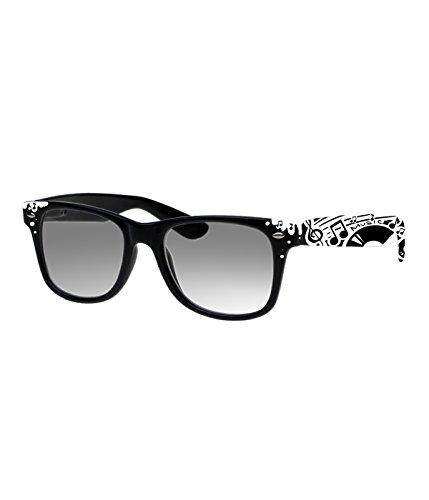 Rockacoca Unisex (Damen Herren) Sonnenbrille mit Design UV400 - Unisex sunglasses with Handpainted Music Design