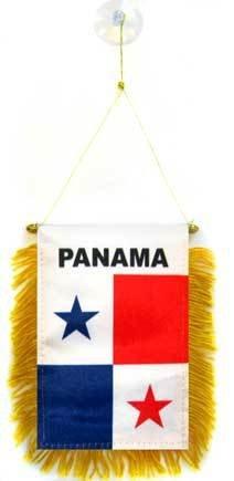 AZ FLAG Fanion Panama 15x10cm - Mini Drapeau panaméen 10 x 15 cm spécial Voiture - Bannière