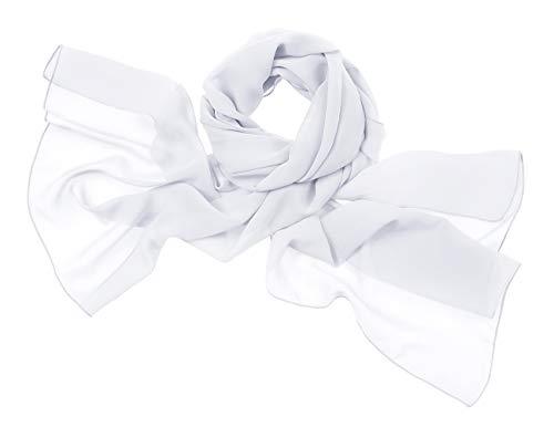Weiß Chiffon-anzug (bridesmay Chiffon Stola Schal Scarves für Kleider in Verschiedenen Farben White S)