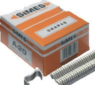 Simes R0111018 Boîte de 1000 Agrafes-Galvanisée 18.