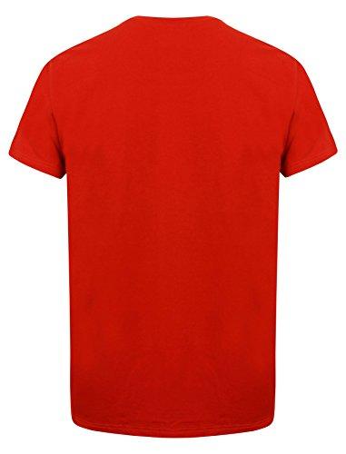 Emporio Armani Mens rot v-neck T-shirt Red