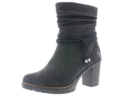 Rieker Damen Stiefeletten Y2591, Frauen Stiefelette, Freizeit leger Stiefel Boots halbstiefel Bootie gefüttert Damen Lady,schwarz,38 EU / 5 UK