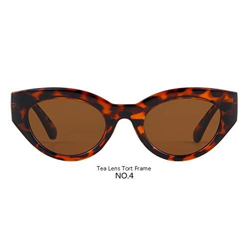 CCGSDJ Retro Übergroße Cat Eye Sonnenbrille Frauen Markendesigner Abgetönte Sonnenbrille Rot Rosa Blau Schatten