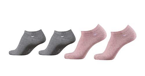 TOM TAILOR Sneaker Socken Herren Damen 4 Paar unisex Sportsocken 35-38 39-42 43-46 (rose, 35/38) -