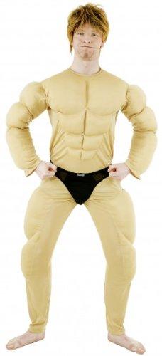 Body Muskel Kostüm - Faschingskostuem Herren Muskel Body