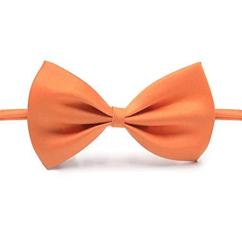 Orange Kostüm Katze - KOBWA Haustier Kostüm Fliege Orange Einstellbar Hund Katze Bogen Krawatten Handgemachte Fliege Halsbänder für Katzen Hunde Welpen Grooming Zubehör