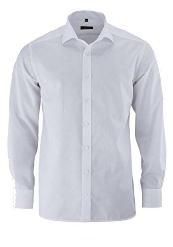 ETERNA Modern Fit Hemd super langer Arm Popeline weiß AL 72 Weiß