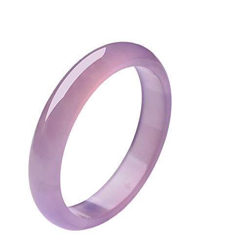 Weiduoli EIS-Blumen Hibiskus Zellstoff Armband natürliche Jade Achat Armband Pulver Purple Jade Armband Geschenk - Armreif Purple Jade
