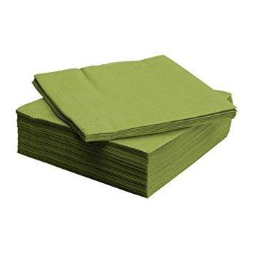 Ikea FANTASTISK Papierserviette, 50 Stück, Papier, Mittelgrün, 20 x 20 x 5 cm, Einheiten