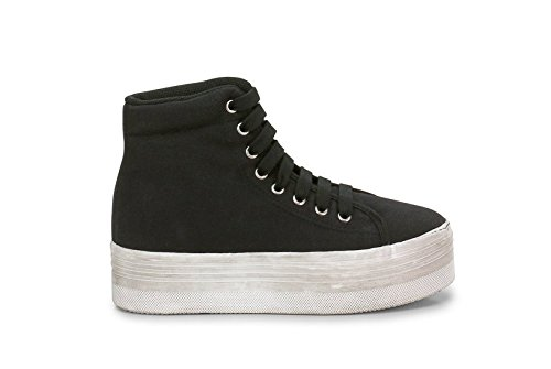 JC PLAY BY JEFFREY CAMPBELL HOMG WASHED CANVAS SNEAKER PLATFORM (37)