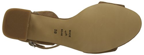 Shoe the Bear May S, Sandales Bout Ouvert Femme Marron (160 Taupe)