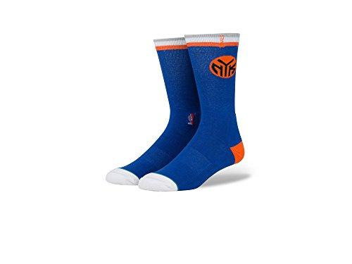 Stance New York Knicks Arena Logo NBA Socken Blau, L (Air Blau 9 Jordan)