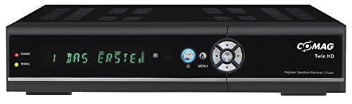 "COMAG 18129 ""TWIN HD"" Digitaler Satelliten Receiver/Tuner HD-TV (HDMI, USB 2.0, PVRready, 1080p (Senderabhängig), 1080i, 720p, 576p) schwarz"