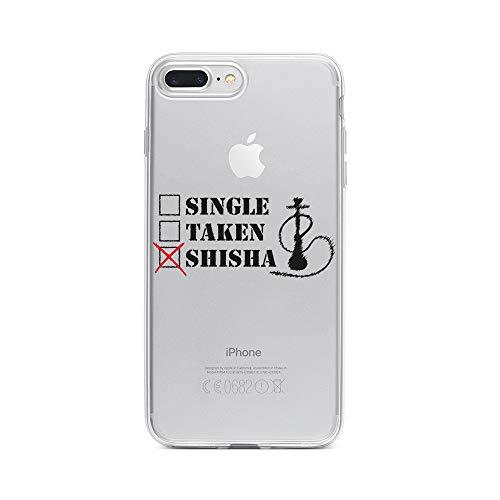 licaso Apple iPhone 8 Plus Handyhülle Smartphone Apple Case aus TPU mit Single, Taken, Shisha Print Motiv Slim Design Transparent Cover Schutz Hülle Protector Soft Aufdruck Lustig Funny Druck