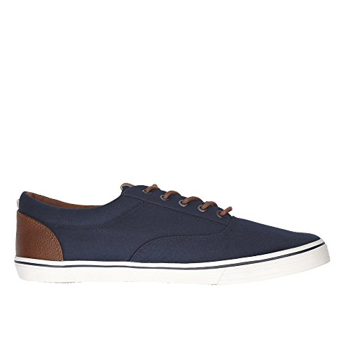 Jack & Jones Jfwvision Chambray Mix SS Anthracite, Sneakers Basses Homme Marine