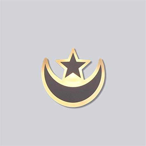 Bronze-kronleuchter 21-licht (Elegantes weißes LED Acryl Lampenschirm Wand Lampe Kinder Zimmer hübsch Wandlampen Mond Stern Wand Licht,21cm*13.2cm)