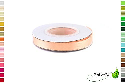 Creativery Satinband 10mm x 10m Doppelseitig Apricot -