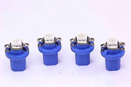4x blaue high Power B8.5D SMD-LED Tachobeleuchtung Umbauset Plug and Play