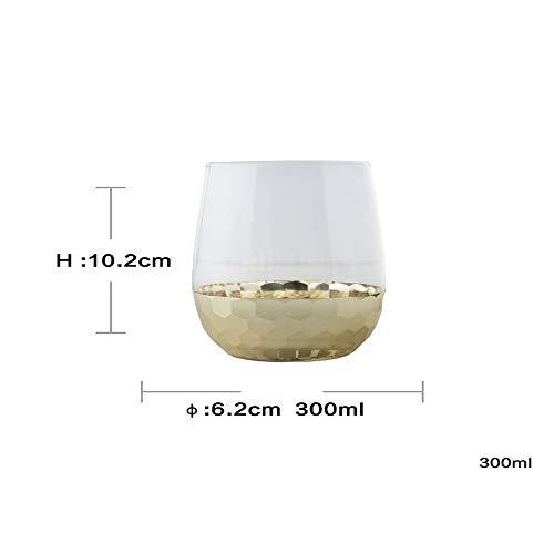 Exquisite Glasblume Glas Tassen Tee Neuheit Saft Gläser Weingläser Party Bar Prost Kunst , Gold , Medium