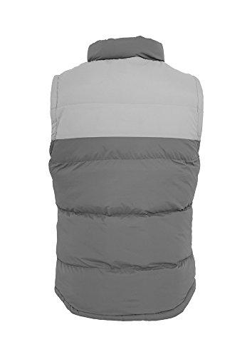 TB346 2-tone Bubble Vest Daunen Weste cha/gry