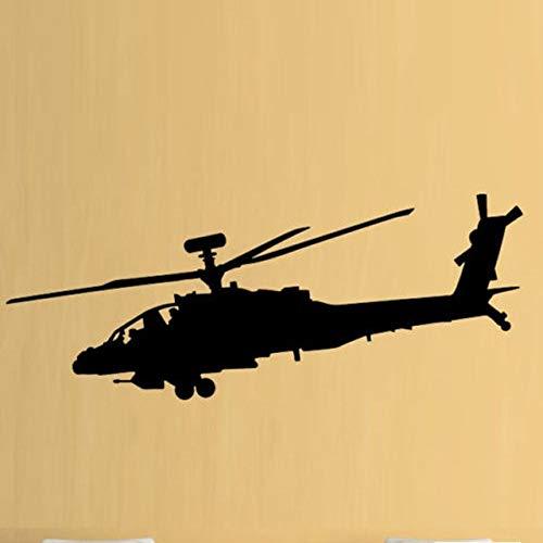 Yangll Wandaufkleber Kinderzimmer Hubschrauber Armee Jungen Hobby Apache Abnehmbare Wandaufkleber Für Wohnzimmer Hintergrund Vinyl Aufkleber Schlafzimmer Home Art Decor 102X42 Cm