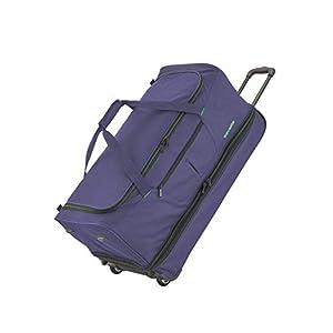 travelite 2-Rad Trolley Reisetasche Gr. S mit Dehnfalte, Gepäck Serie BASICS: Weichgepäck Reisetasche mit Rollen mit…