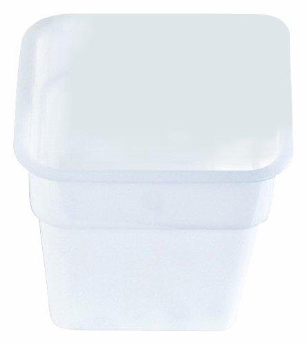 Crestware 4-Quart Square White Container Polycarbonat-square Plate