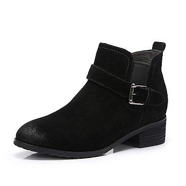 RTRY Scarpe Da Donna In Pelle Nubuck Autunno Inverno La Moda Stivali Stivali Per Casual Nero Marrone US6 / EU36 / UK4 / CN36