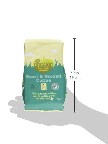 Morrisons Organic Roast and Ground Coffee, 227 g, Pack of 6