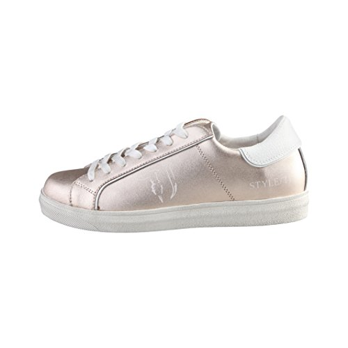 trussardi-damen-metallic-sneaker-41-weiss-weizen