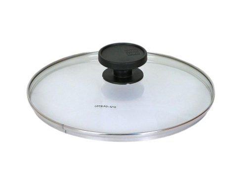 ALLUFLON Coperchio in vetro con bordo inox diam. 20 cm.