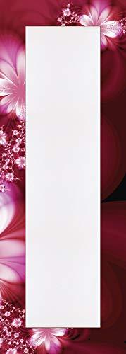 Artland Qualitätsspiegel I Spiegel Wandspiegel Deko Rahmen mit Motiv 50 x 140 cm Botanik Blumen Blüte Digitale Kunst Rot G5TM Girlande aus Blumen